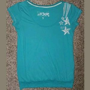 FOX Racing Blue Short Sleeve Shirt Women's Size S